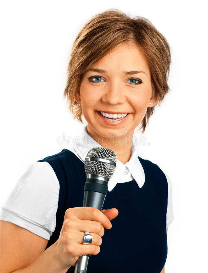 Корреспондент TV. стоковое изображение