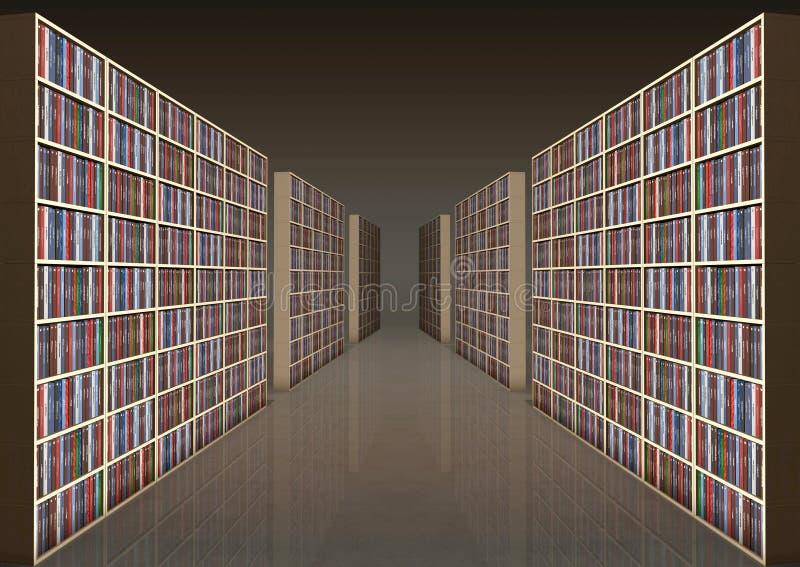 корридор книжных полок стоковая фотография