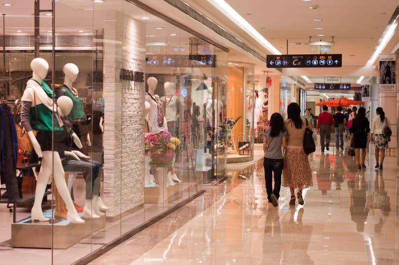 Корридор торгового центра стоковые фотографии rf