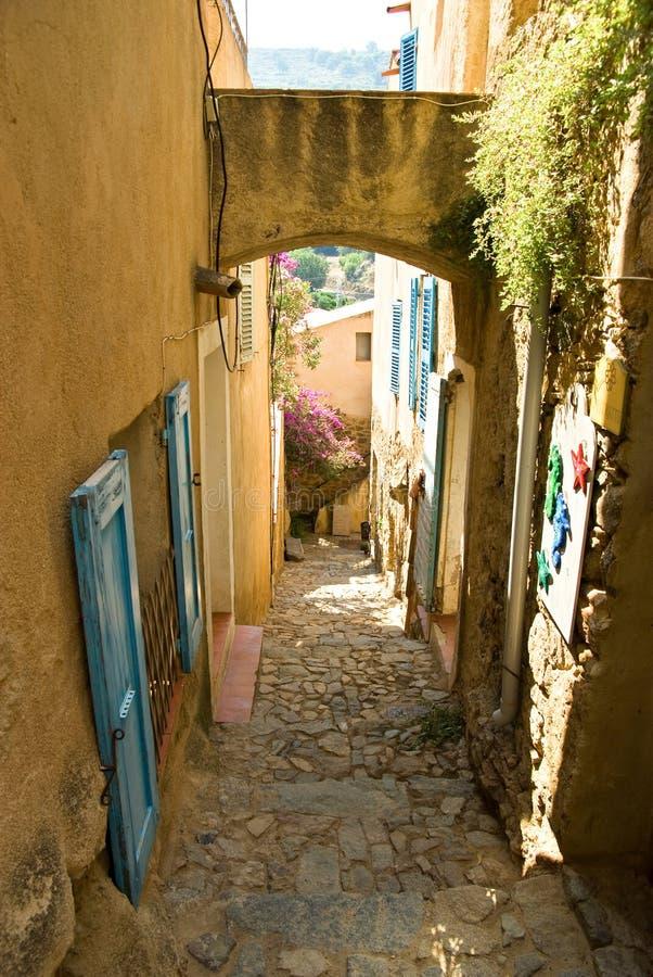корсиканское село стоковое фото