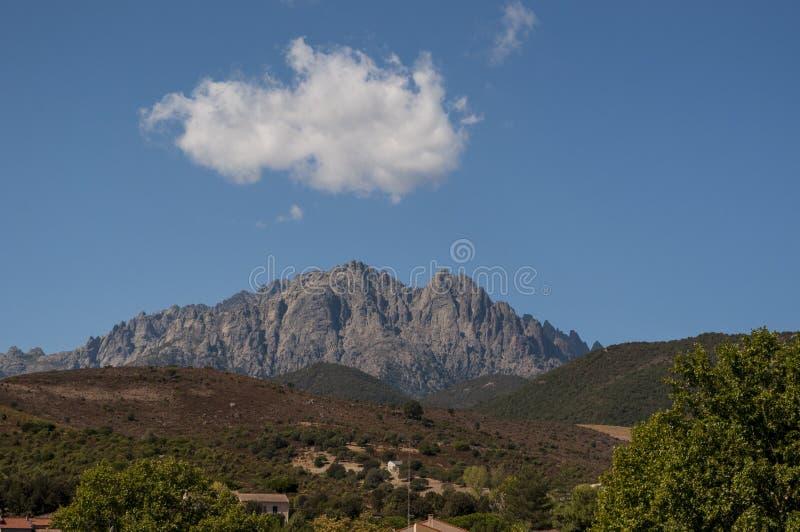 Корсика, держатель Cinto, одичалый ландшафт, Haute Corse, верхнее Corse, Франция, Европа, Haut Asco, долина Asco, высокий центр К стоковые фото