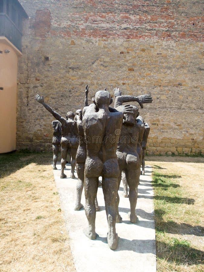 Кортеж жертвенных жертв, Sighetul Marmatiei стоковое фото rf