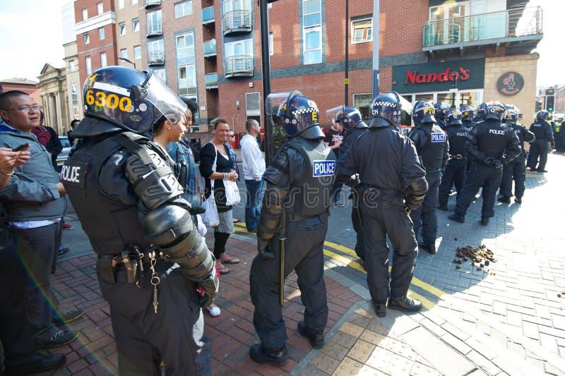 Кордон полиции по охране общественного порядка стоковая фотография rf