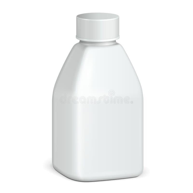 Косметика или бутылка серой шкалы гигиены белая пластичная геля, жидкостного мыла, лосьона, сливк, шампуня Подготавливайте для ва иллюстрация штока