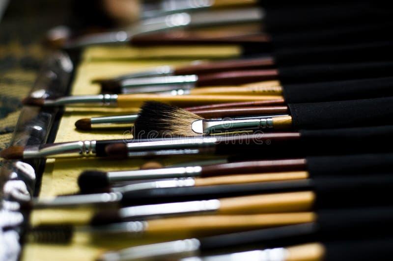 косметика щетки стоковые изображения rf