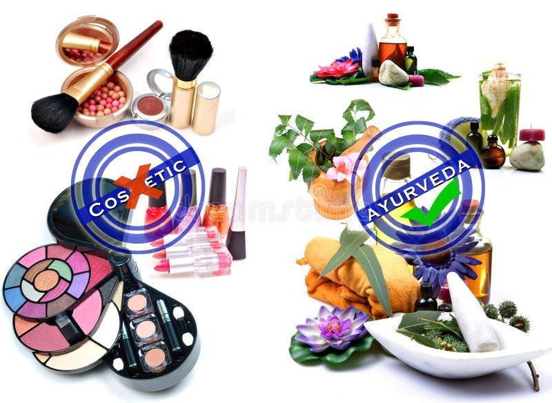 косметика ayurveda против стоковое изображение rf