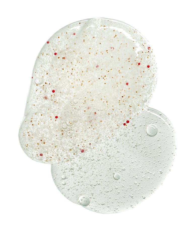 Косметика scrub гель и жидкость стоковые изображения