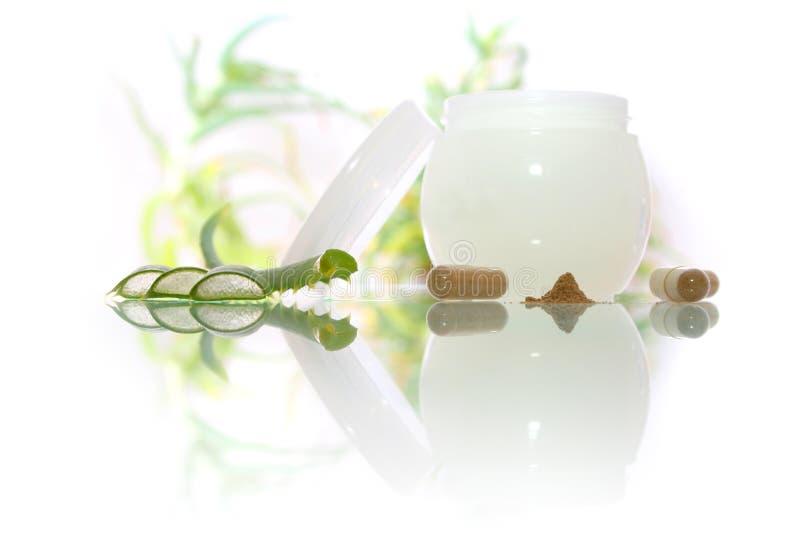 косметики cream vera алоэ стоковое изображение