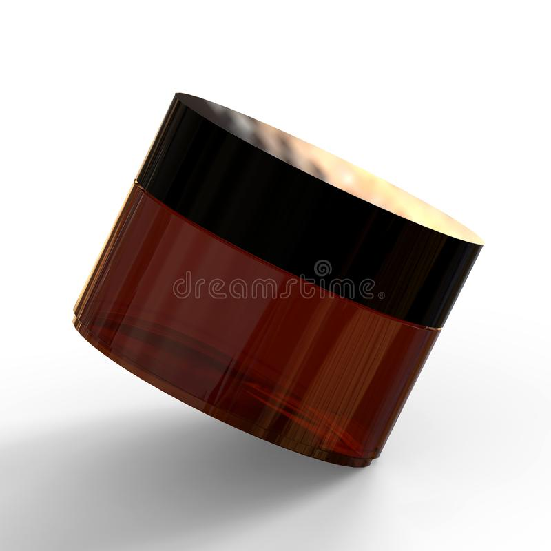 Косметическая насмешка бутылки вверх на изолированной белой предпосылке, иллюстрации 3D иллюстрация штока