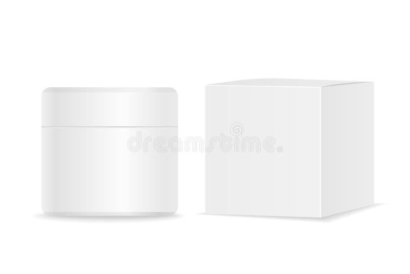 Косметическая трубка и упаковка Место для вашего текста бесплатная иллюстрация