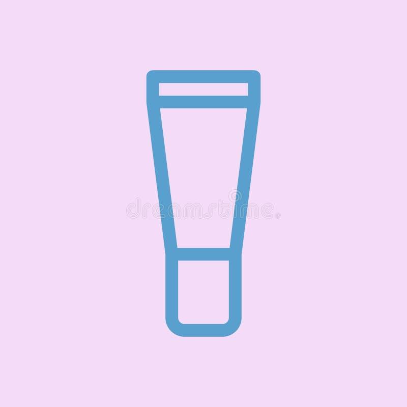 Косметический значок трубки лоск губы геля бесплатная иллюстрация