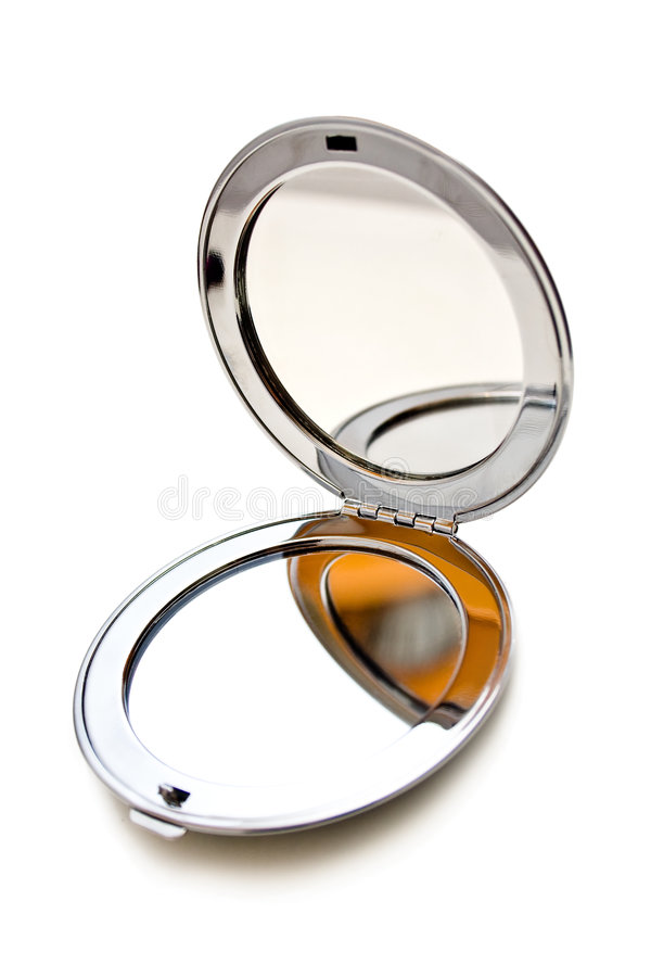 косметическое зеркало flip вверх стоковые изображения rf