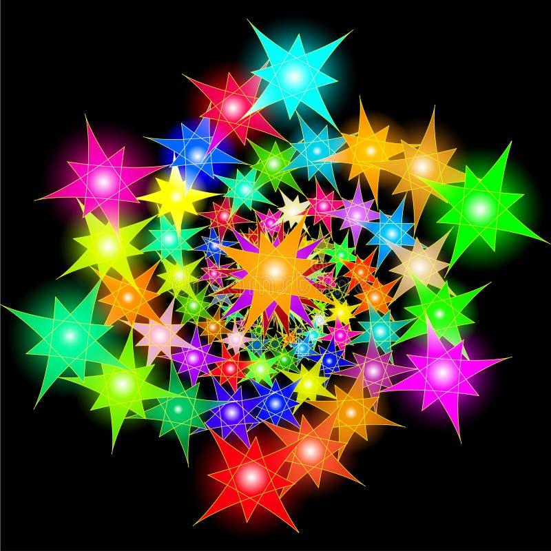 Download Космическая предпосылка ярких звезд аранжировала в спирали Иллюстрация вектора - иллюстрации насчитывающей природа, пинк: 40575691