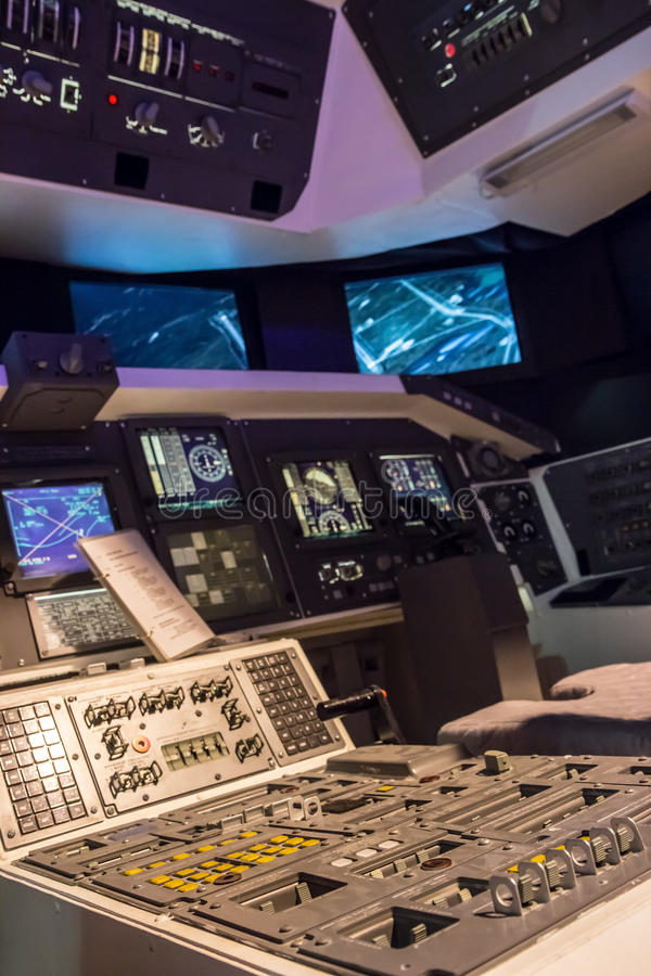 Космический летательный аппарат многоразового использования кабины стоковые изображения
