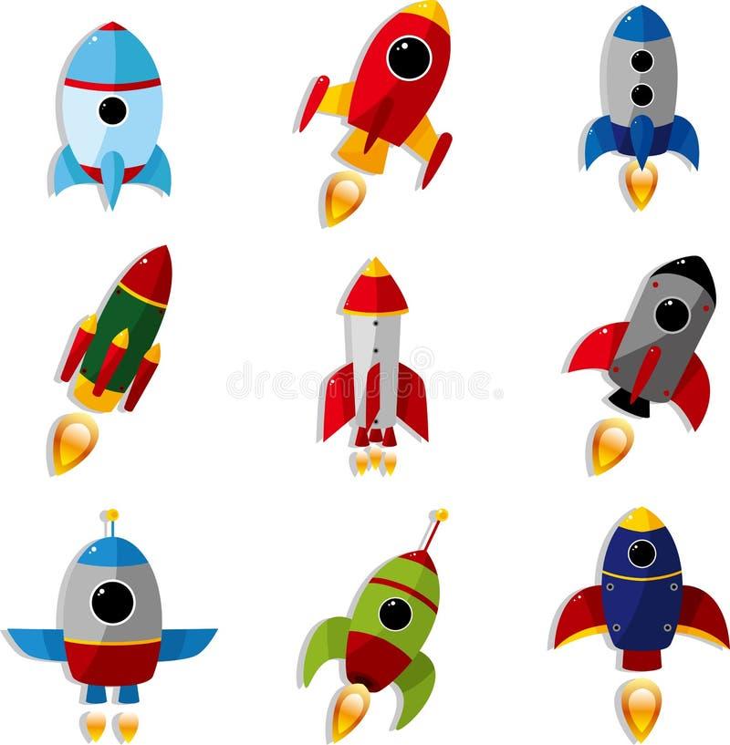 космический корабль иконы шаржа иллюстрация штока