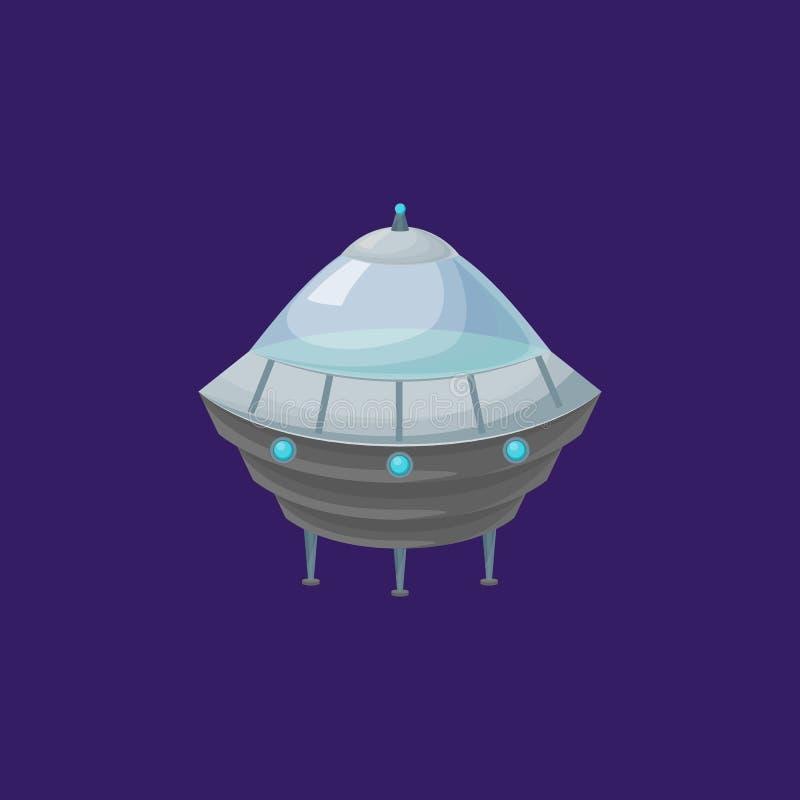 Космический корабль чужеземца мультфильма или корабль Ufo вектор иллюстрация штока