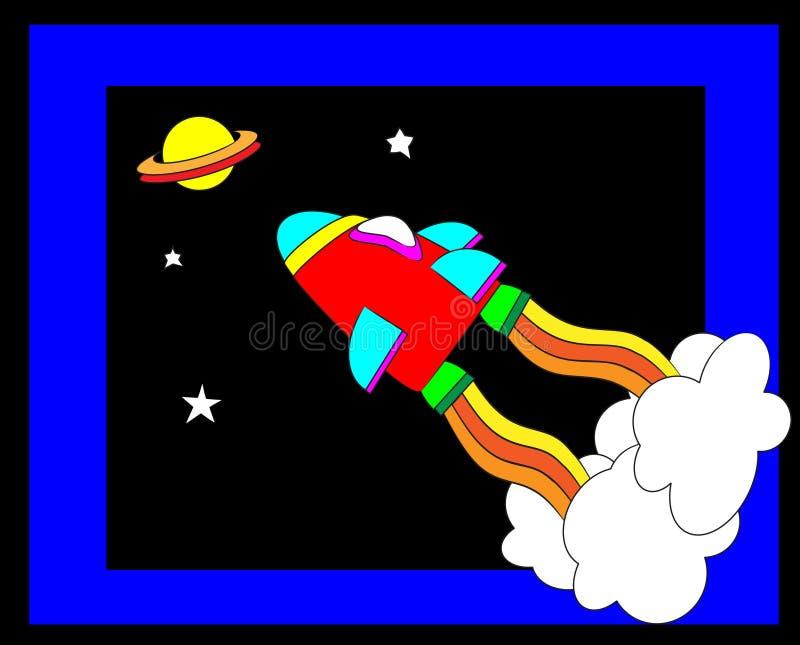 космический корабль иллюстрация вектора
