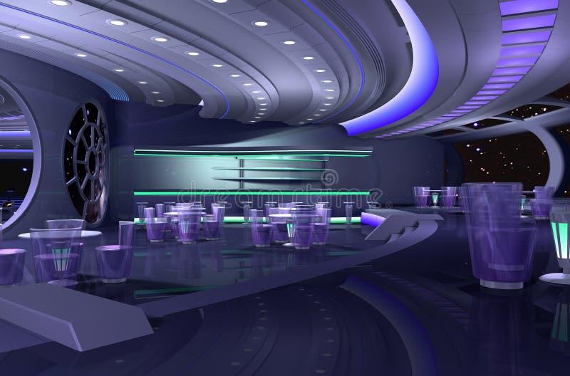 космический корабль 3d иллюстрация вектора