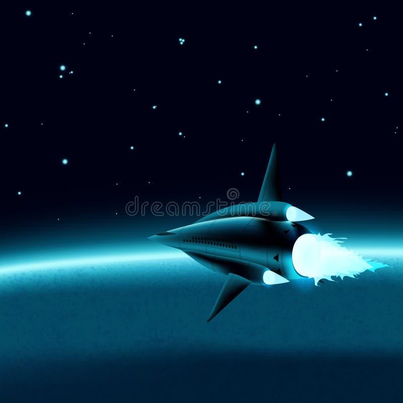 Космический корабль иллюстрация штока