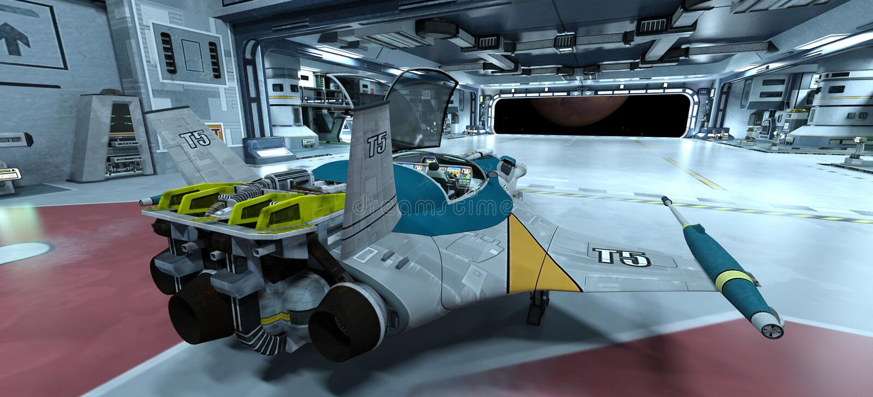 Космический корабль стоковое фото rf