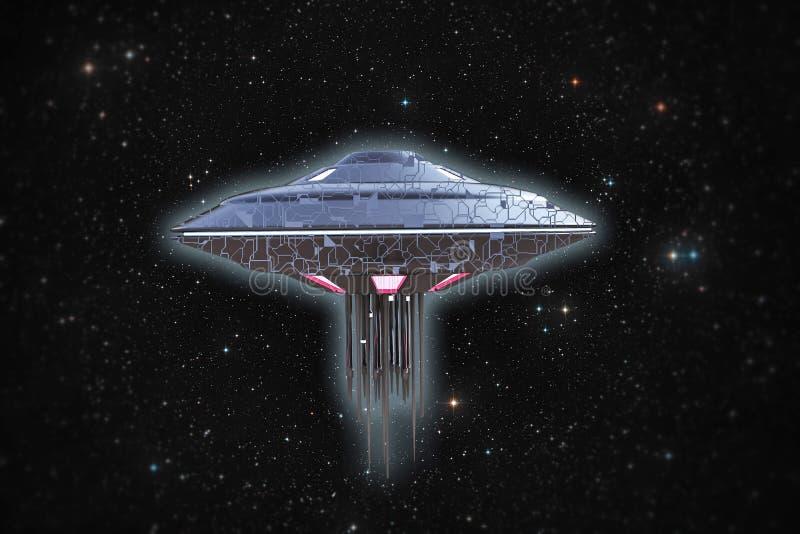 Космический корабль Ufo иллюстрация штока