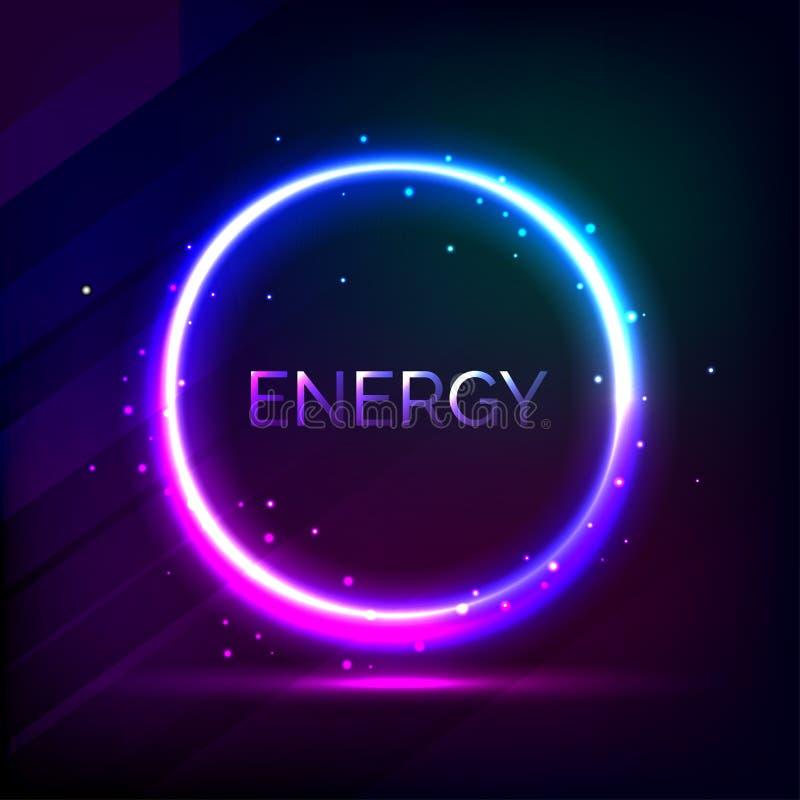 Космический круг энергии иллюстрация вектора