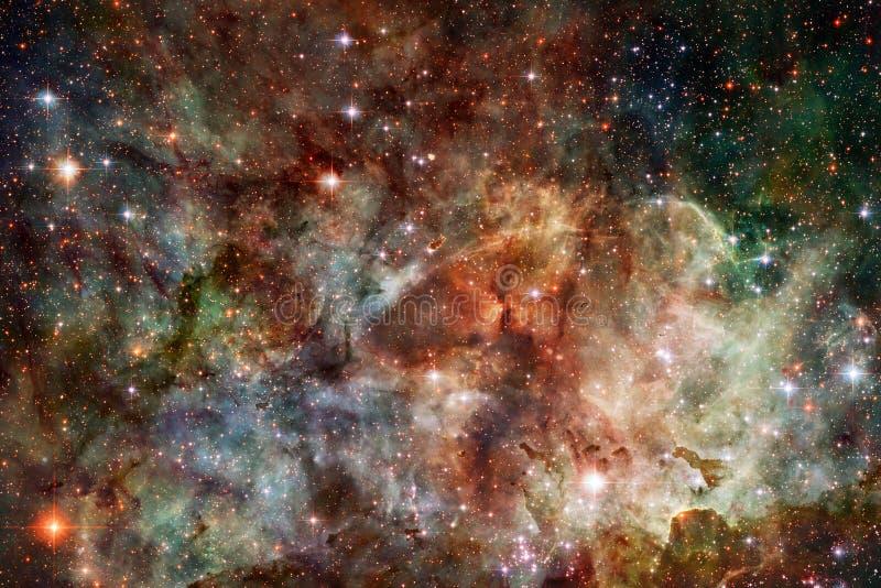 Космический ландшафт, внушительные обои научной фантастики иллюстрация вектора
