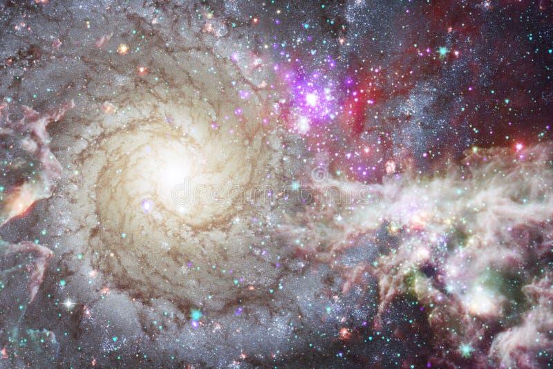 Космический ландшафт, внушительные обои научной фантастики стоковые фото