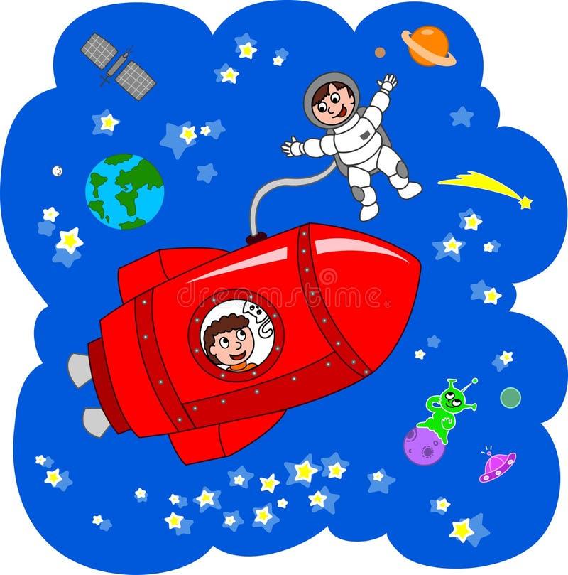 космический полет ракеты бесплатная иллюстрация