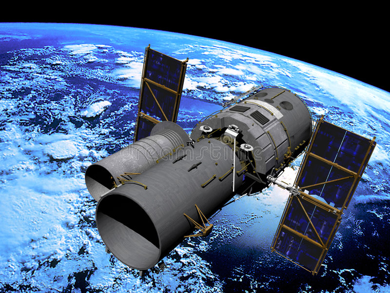 космический телескоп иллюстрация вектора