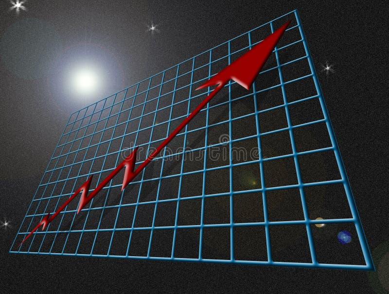 космический финансовохозяйственный рост иллюстрация штока