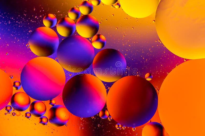 Космический фон вселенной или планет Абстрактная молекула Пузырьки воды Макрос воздуха или молекулы стоковые фотографии rf