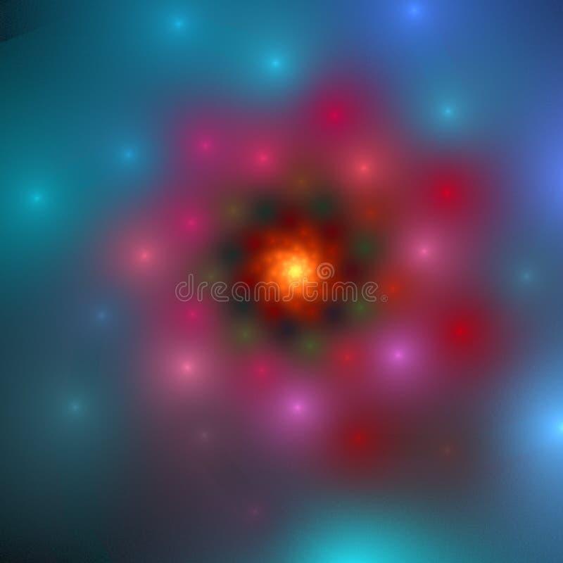 космический цветок стоковые изображения rf