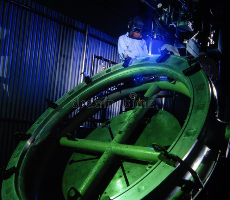 космический welder стоковое фото