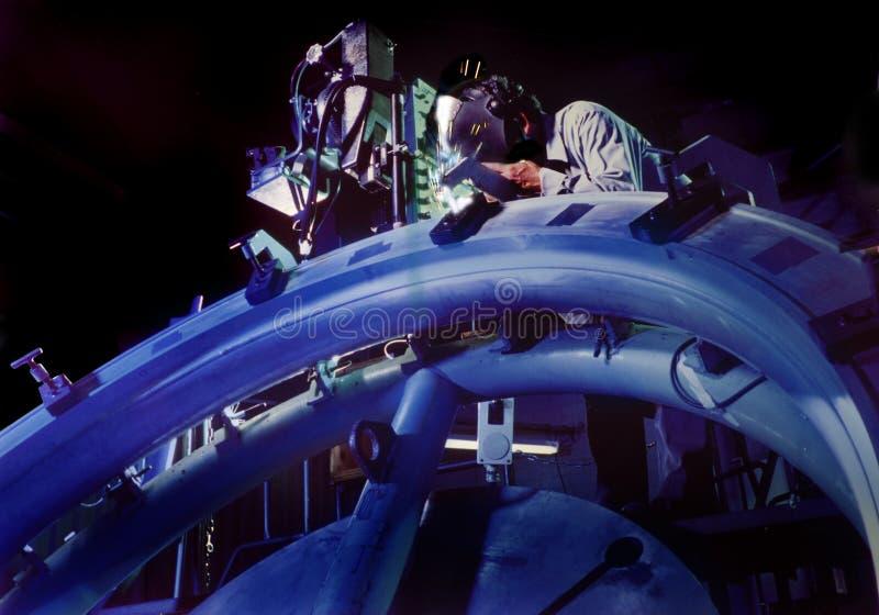 космический welder стоковые изображения rf