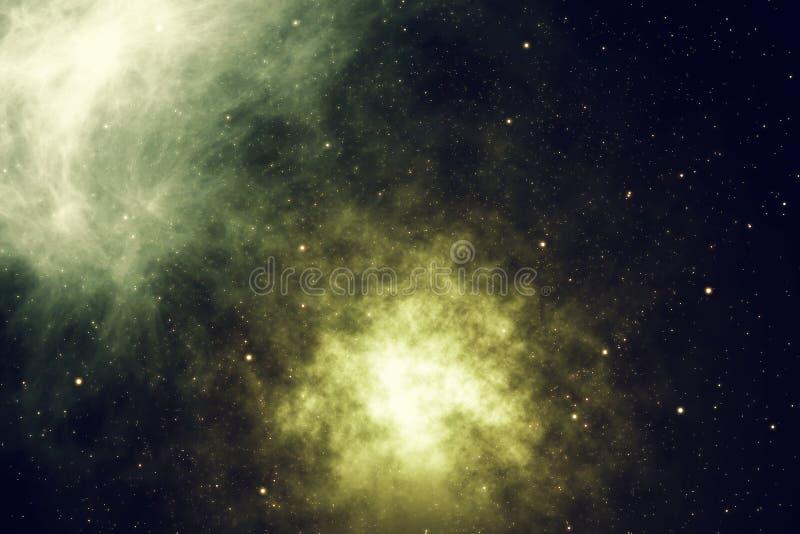 Космическое пространство заполнено с бесконечным числом звезд, галактик, межзвёздных облаков Красивейшая цветастая предпосылка пе иллюстрация штока