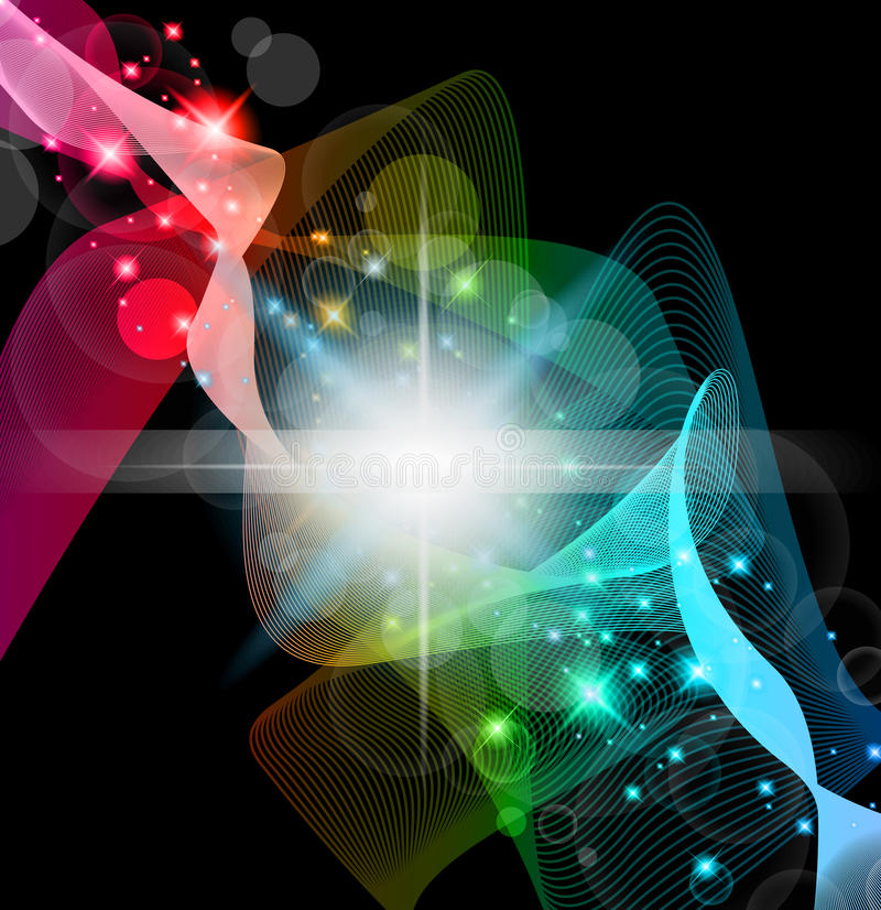 космос абстрактного Llight Scenary Стоковая Фотография RF