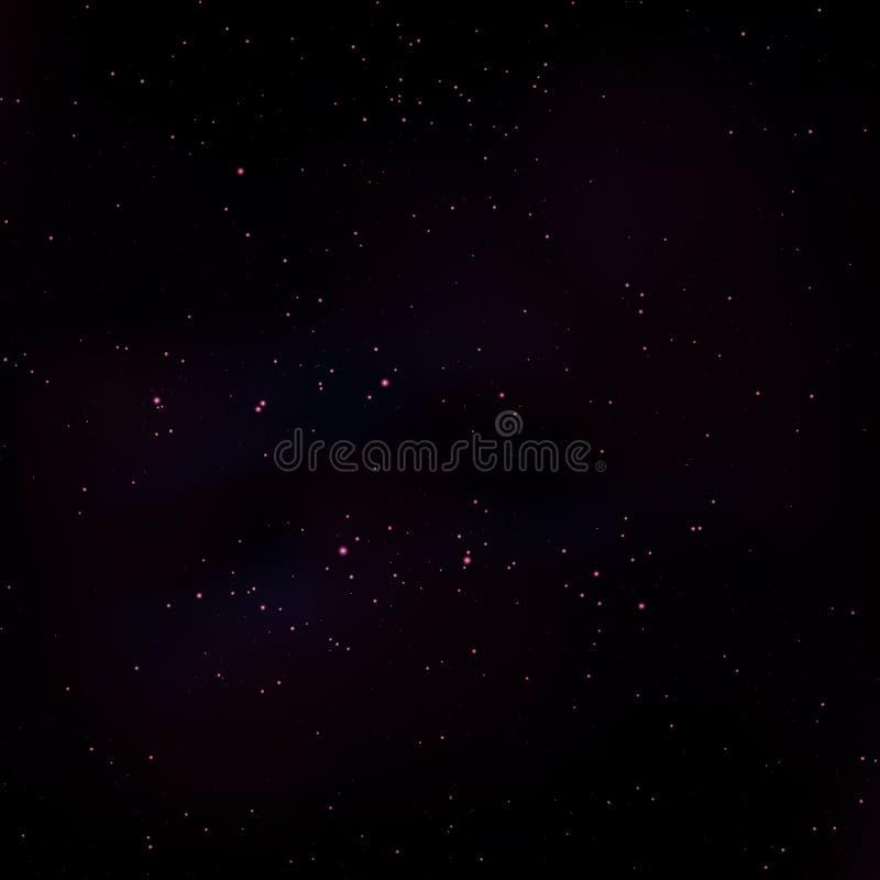 Космос играет главные роли предпосылка иллюстрация штока
