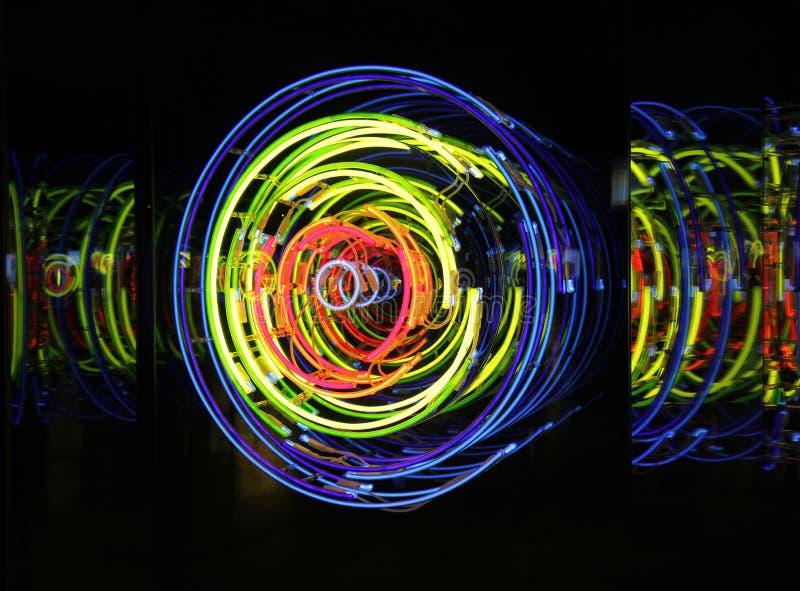 Космос и время, неон, ксенон, света аргона стоковые изображения rf