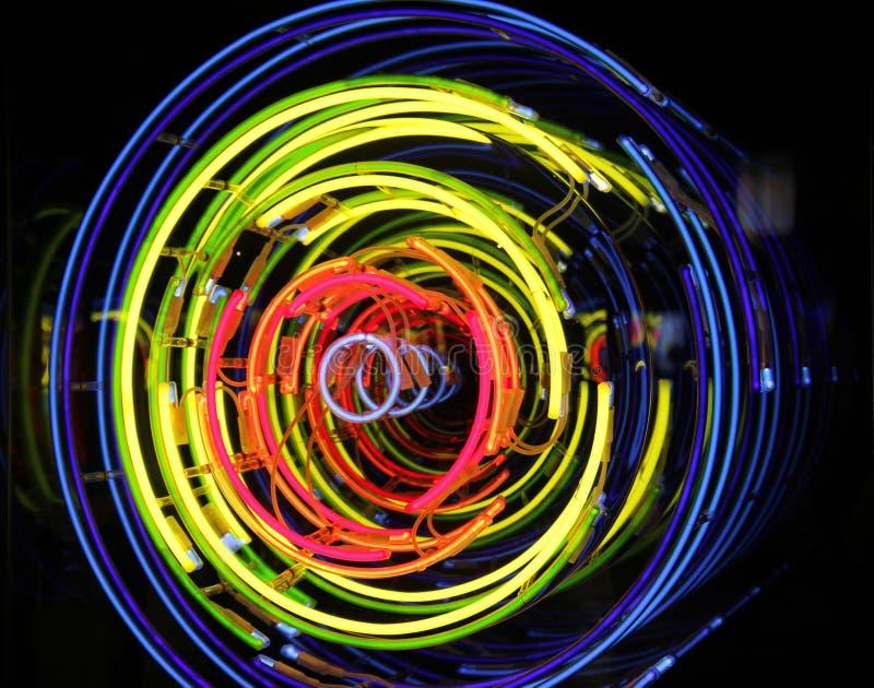Космос и время, неон, ксенон, света аргона стоковое фото
