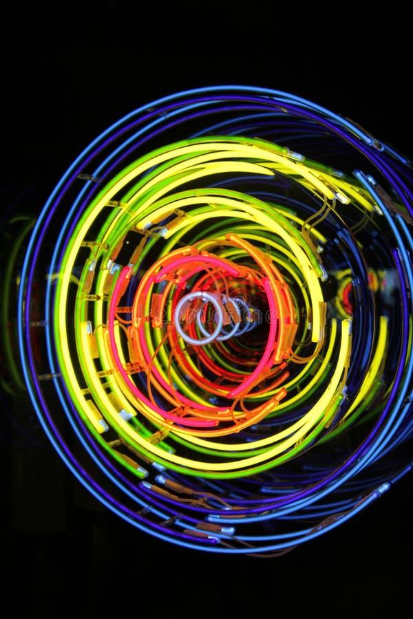 Космос и время, неон, ксенон, света аргона стоковая фотография