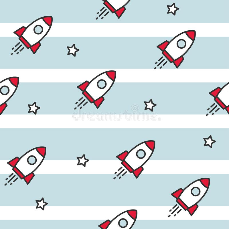 Космос и космические корабли картина безшовная бесплатная иллюстрация