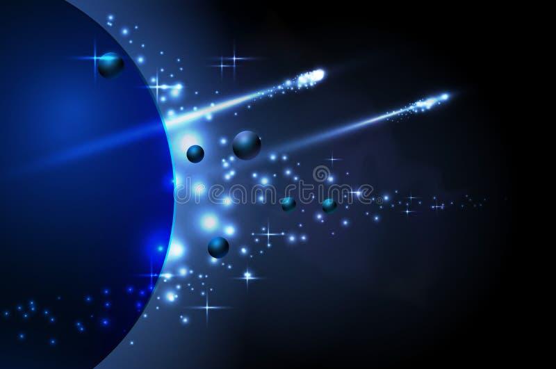 Космос и планета бесплатная иллюстрация