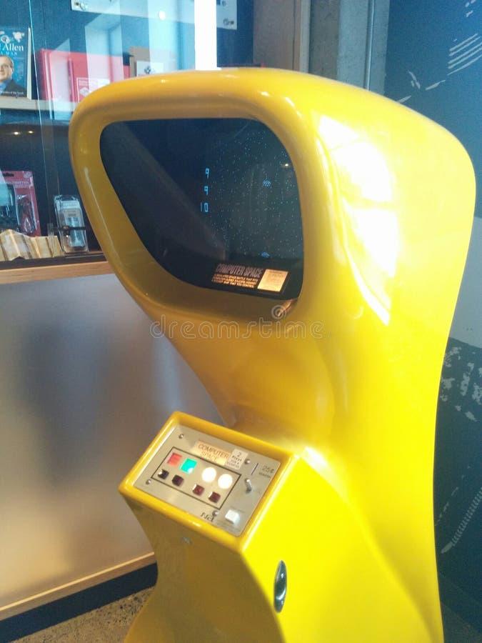 Космос компьютера - первая видеоигра всегда стоковое фото rf
