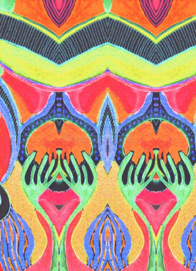 Космос первоначально желтого цвета картины оранжевый голубой стоковое фото rf