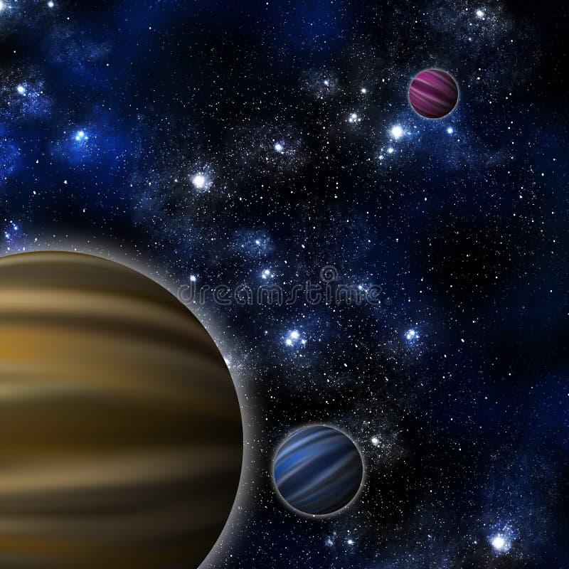космос планеты иллюстрация штока