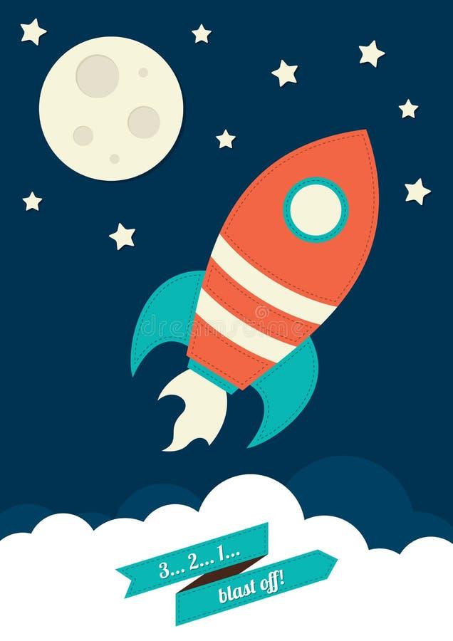 Космос Ракета иллюстрация вектора