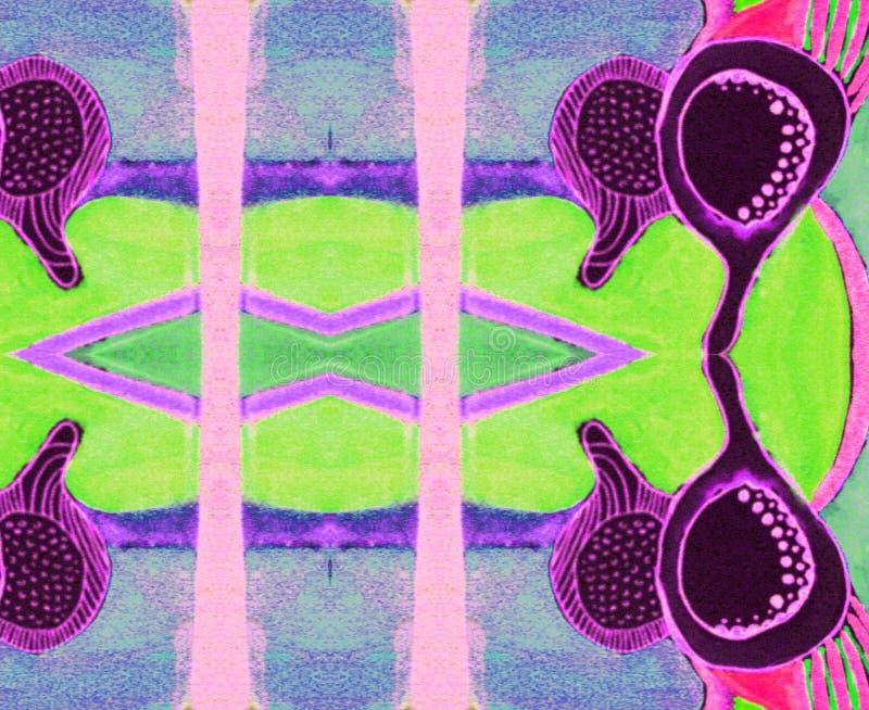 Космос сирени орнамента индийский голубой розовый стоковые изображения rf