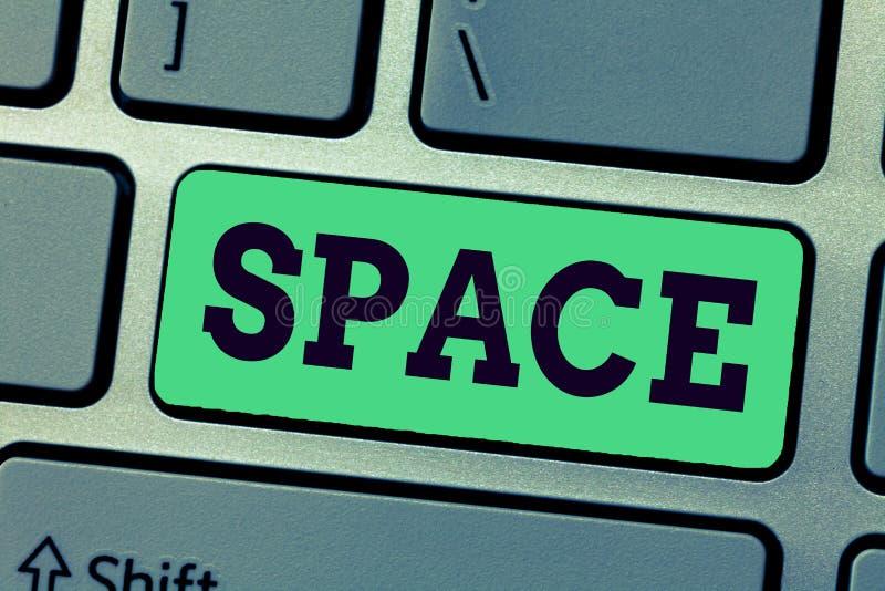Космос сочинительства текста почерка Концепция знача непрерывные область или ширь которая свободно доступное незанятое стоковая фотография rf