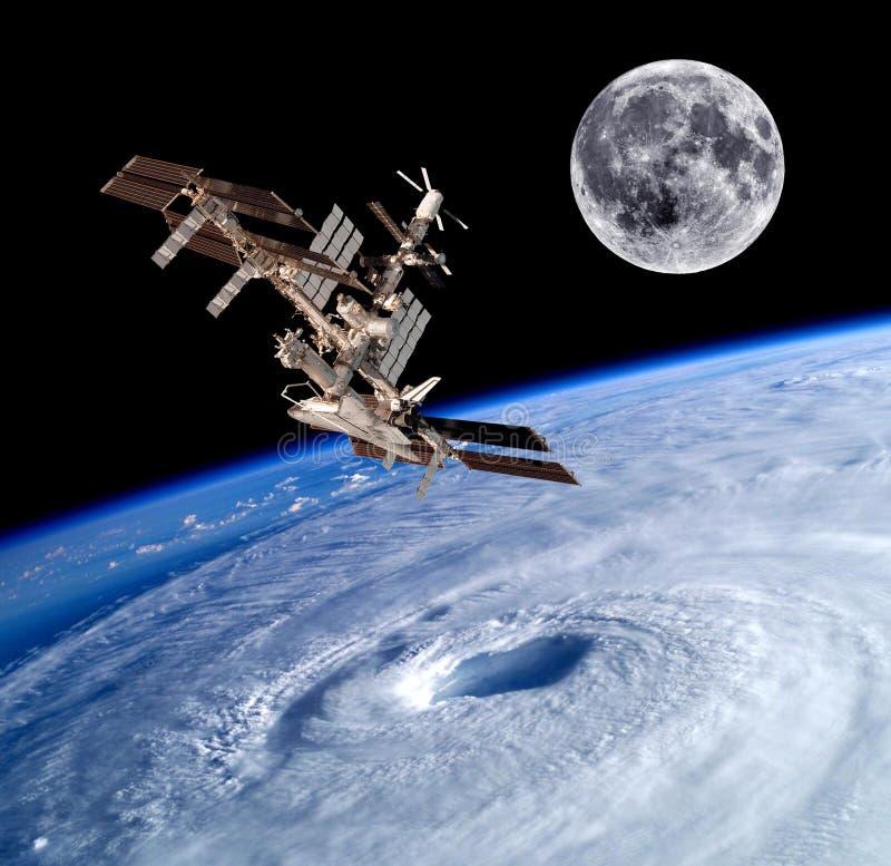Космос спутника земли стоковое изображение rf